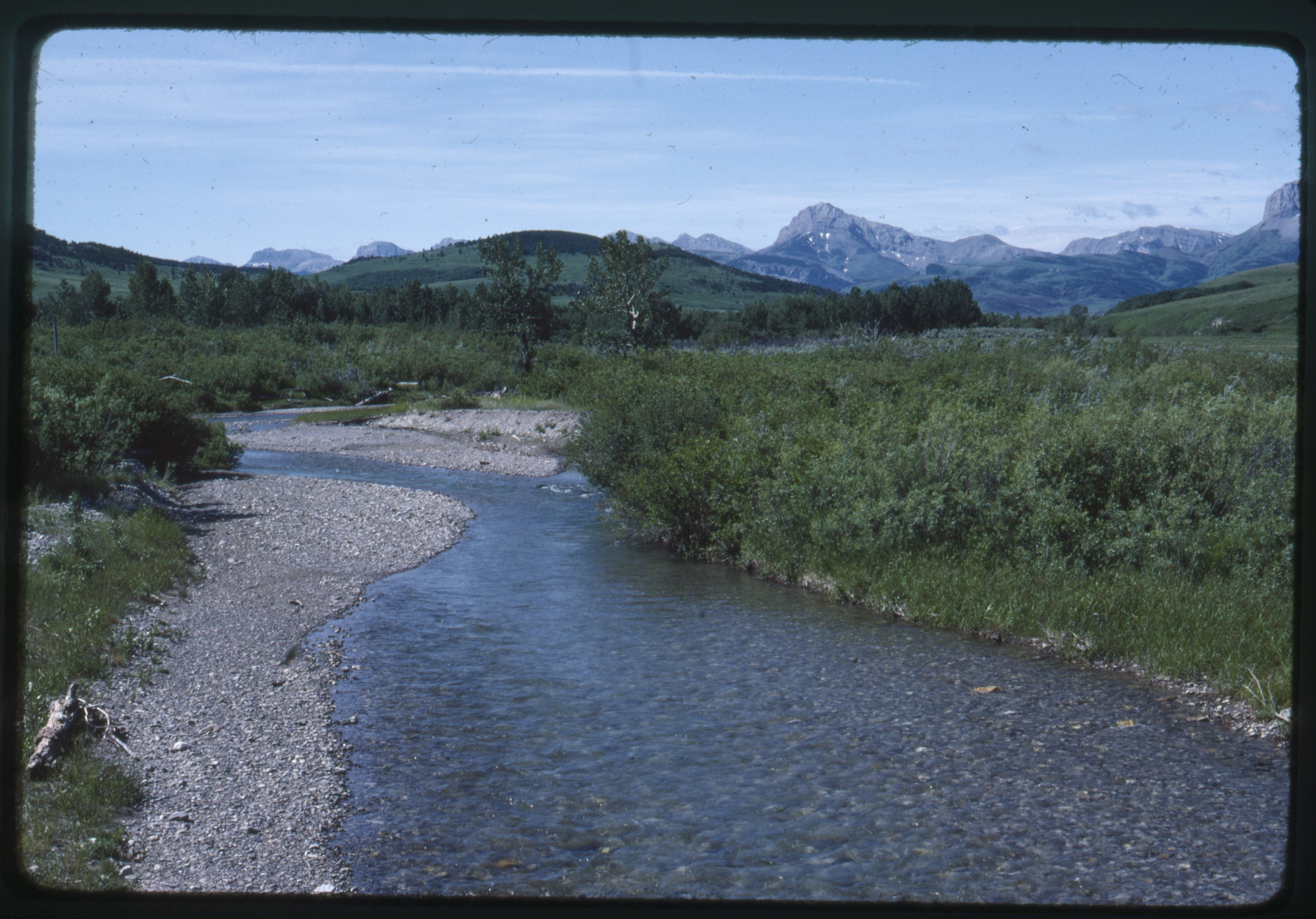 Dupuyer Creek at Den B bridge in Dupuyer, Montana